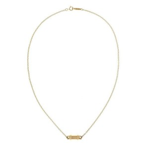 Tiffany & Co. 18k Yellow Gold Column Design Pendant & Chain