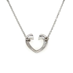 Tiffany & Co. Picasso Tenderness Diamond 18k Gold Heart Pendant & Chain