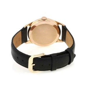 Omega Vintage 18k Rose Gold Hand Wind Men's Wrist Watch Leather Band