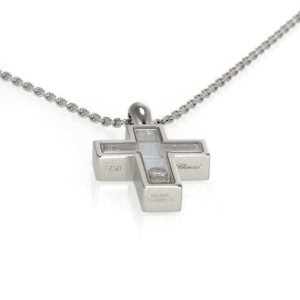 Chopard Happy Diamond 18k Gold Cross Pendant & Chain