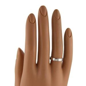 Cartier Mini Love 18k White Gold 3.6mm Band Ring Size 45-US 3.25 Cert