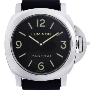 Panerai Luminor Base 44MM Steel Rubber Black Dial Mens Hand Wind Watch PAM00112