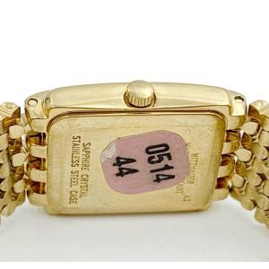 Wittnauer Gold Tone Steel Diamonds Swiss Quartz Womens Watch