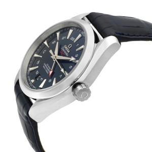 Omega Seamaster Aqua Terra Steel Blue Dial GMT Mens Watch 231.13.43.22.03.001