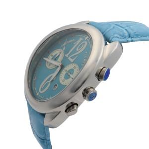 Altanus Flores Chrono Steel Sky Blue Dial Quartz Ladies Watch 7826-LBLBL