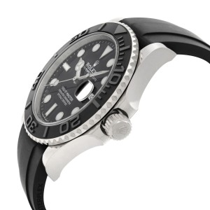 Rolex Yacht-Master 42mm 18K White Gold Black Dial Automatic Mens Watch 226659