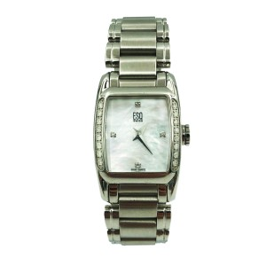 ESQ Movado Quest MOP Rectangle Dial Steel Quartz Ladies Watch 07100961