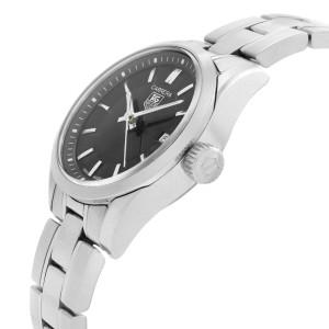 TAG Heuer Carrera 27mm Steel Black Dial Quartz Ladies Watch WV1414.BA0793