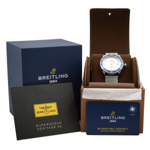 Breitling Superocean Heritage White Dial Automatic Mens Watch A1732116/G717-154A