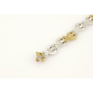 Tiffany & Co. Picasso Loving Hearts 18k Yellow Gold  925 Silver Bracelet