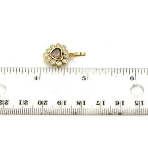 1.07ct Fancy Bronze Color Heart Diamond 18k Yellow Gold Heart Pendant
