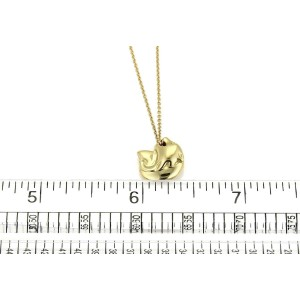 Tiffany & Co. Peretti 18k Yellow Gold Panther Head Pendant Necklace