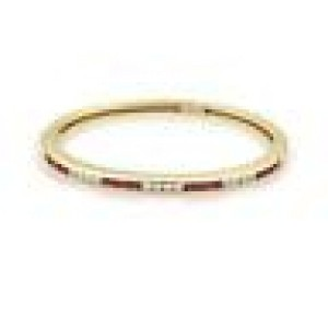 Tiffany & Co. 1.85ct Diamond Ruby 18k Yellow Gold Bangle Bracelet
