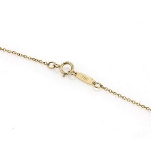 Tiffany & Co. 18k Yellow Gold Pearl Cupid's Arrow Heart Pendant & Chain