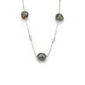 Tiffany & Co. Peretti Tahitian Keshi Pearls & Diamond Platinum Necklace $5700