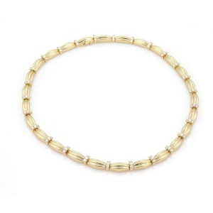 Tiffany & Co. 4.00ct Diamond 18k Yellow Gold Signature II Necklace