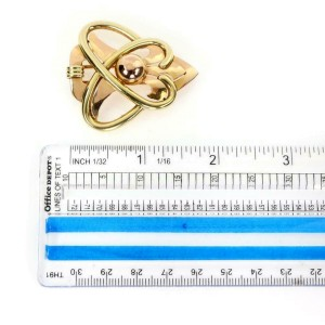 Tiffany & Co. Vintage 14k Rose & Yellow Gold Fancy Love Knot Brooch