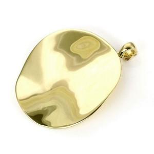 Ippolita 18k Yellow Gold Wave Style Large Round Pendant