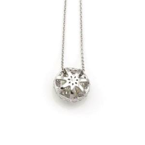New 1.76ct Diamond Solitaire w/Accent Pendant & Chain in 14k White Gold