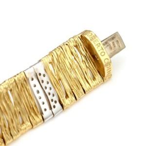 Roberto Coin Diamond 18k Gold Elephant Skin Wide Flex Bracelet