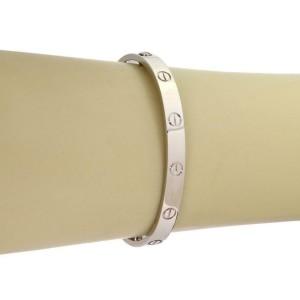 Cartier Love 18k White Gold Screw Motif Bangle Size 17 w/Screwdriver Paper