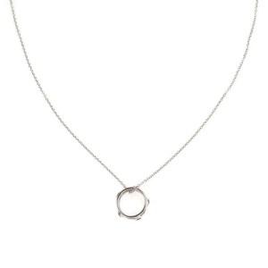 Tiffany & Co.Peretti Sapphire By The Yard 18k Gold Mini Ring Pendant Chain