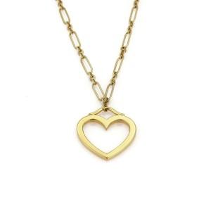 Tiffany & Co. 18k Yellow Gold Medium Heart Pendant & Chain Necklace