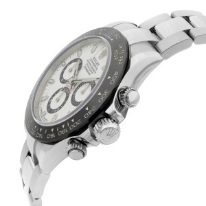 Rolex Cosmograph Daytona Steel Ceramic Bezel White Dial Automatic Watch 116500LN