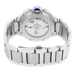 Cartier Ballon Bleu Chronograph Steel Silver Dial Automatic Mens Watch W6920002