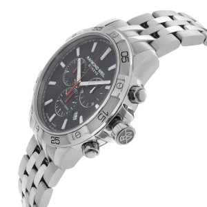 Raymond Weil Tango Chronograph Steel Black Dial Quartz Mens Watch 8560-ST2-20001