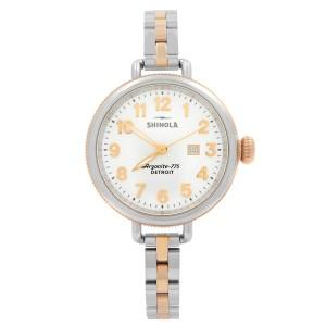 Shinola Birdy Rose Gold-Tone Steel White Dial Quartz Ladies Watch S0120001100