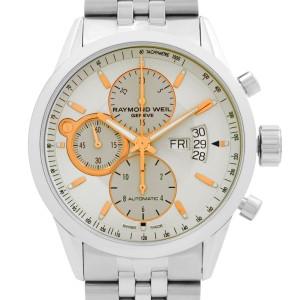 Raymond Weil Freelancer Steel Cream Dial Automatic Mens Watch 7730-ST-65025