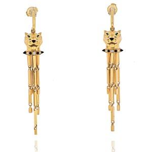 Cartier 18k Yellow Gold Panthere De Tassel Earrings