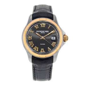 Raymond Weil Parsifal 18K Rose Gold Steel Black Dial Mens Watch 2970-SC5-00208