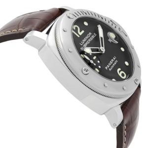 Panerai Luminor Submersible 44mm Steel Black Dial Automatic Mens Watch PAM00024