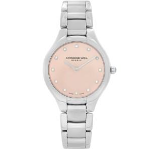Raymond Weil Noemia Steel Diamonds Pink Dial Quartz Ladies Watch 5132-ST-80081