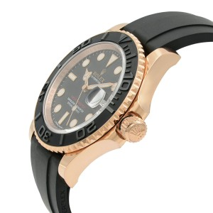 Rolex Yacht-Master 18k Rose Gold Ceramic Black Dial Automatic Watch 116655BKSRS
