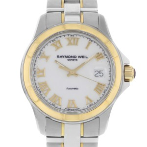 Raymond Weil Parsifal 18k Gold PVD Steel White Dial Mens Watch 2970-SG-00308