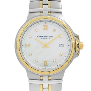 Raymond Weil Parsifal Steel Diamond White MOP Dial Ladies Watch 5180-STP-00995