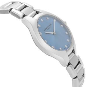Raymond Weil Noemia Stainless Steel Blue Diamond Dial Ladies Watch 5132-ST-50081