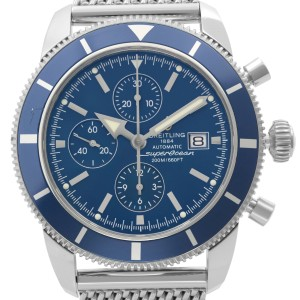 Breitling Superocean Heritage 46mm Chronograph Steel Blue Dial Mens Watch A13320