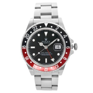 Rolex GMT-Master Stainless Steel Coke Black Dial Automatic Mens Watch 16700