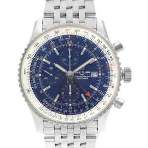 Breitling Navitimer I GMT Chrono 46mm Steel Blue Dial Men Watch A24322121C2A1