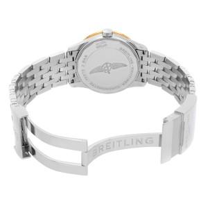 Breitling Navitimer 38 Steel 18K Rose Gold Silver Dial Mens Watch U17325211G1A1