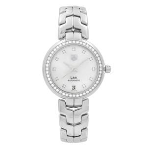 TAG Heuer Link Lady Steel Diamond MOP Dial Automatic Ladies Watch WAT2314.BA0956