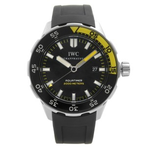 IWC Aquatimer 44 Stainless Steel Black Dial Automatic Mens Sport Watch IW356801
