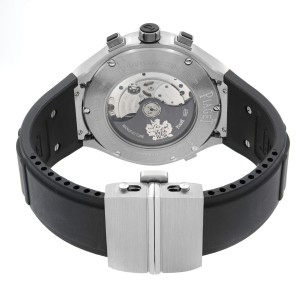 Piaget Polo FortyFive GMT Chronograph Titanium Silver Dial Mens Watch G0A34001