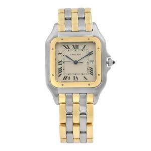 Cartier Panthere de Cartier Steel Gold Beige Dial Quartz Mens Watch 187957