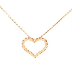 Rachel Koen 14k Rose Gold 0.99 ct Diamonds Heart Shaped Fancy Pendant Chain