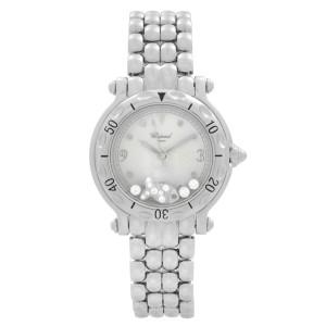 Chopard Happy Sport Steel Floating Fish Silver Dial Quartz Watch 27/8236-23